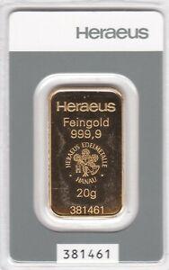 Barren 20 G 999.9 Gold/Gold
