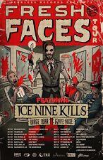 "ICE NINE KILLS / WAGE WAR ""FRESH FACES TOUR"" 2015 USA CONCERT POSTER - Metalcore"