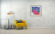 Modern Wall Art Decor, Abstract Acrylic Painting, by artist on Canvas, BIRDWHALE