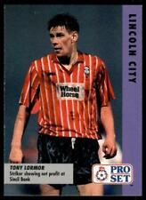 Pro Set Fußball Fixtures 1991-1992 Lincoln Stadt Tony Lormor #83