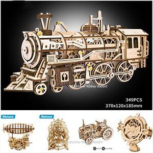Robotime 3D DIY Model Build Set Laser Cut Wooden Clockwork Puzzle Gift UK Stock