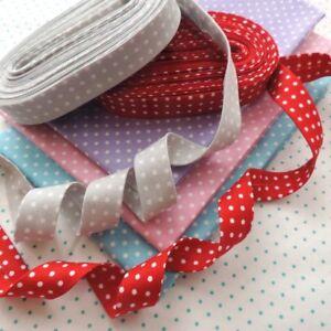 18mm Handmade Wide Quilter's Bias Binding Tape ~ POLKA SPOT DOTS ~ 5m Packs