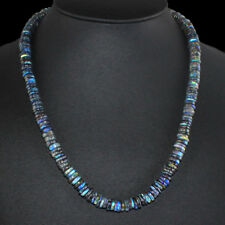 247.00 CTS Earth Mined Untreated Blue Flash Labradorite Round Beads Necklace