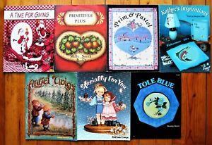 7 Painting Pattern Books Lot Scheewe Rosemaling Milly Smith Richardson - Unused