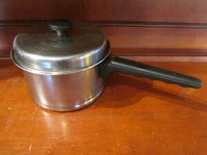 Vintage LIFETIME Stainless Steel 3 Quart Saucepan with Lid