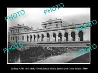 OLD LARGE HISTORIC PHOTO OF SYDNEY NSW, THE NORTH SYDNEY POLICE STATION c1900