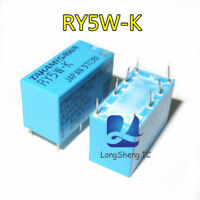 5pcs RY5W-K DIP-8 Electromechanical Relay 5VDC 165Ohm 1A DPDT Signal Relay new