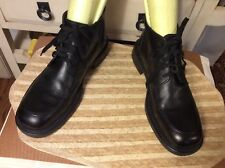 Vintage Mens Kenneth Cole New York Black Leather Ankle Lace-up Boot Sz10, Italy