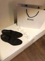 HUGO BOSS Herren Budapester Schuhe Leder Braun Italy Gr.43(9) TOP