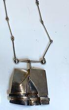 Bjorn Weckstrom Lapponia Finland Vintage Sterling Silver Modernist Necklace