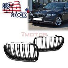 US BLK Front Center Grille Glossy Shiny For 11-15 BMW F10 520i 525i 528i 550i 7M