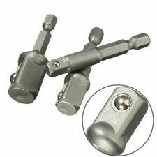 "UK 3 Pcs Socket Adapter Set Hex Shank to 1/4"" 3/8"" 1/2"" Impact Drill Bits Driver"