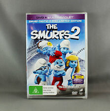 "THE SMURFS 2 DVD + UV ULTRAVIOLET 2 x DISC LIMITED EDITION - REGION 4 PAL"" - NEW"