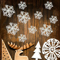 30PCS White Snowflake Ornaments Christmas Tree Festival Party Home Decor-WI