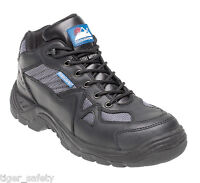 Himalayan 4010 S1P SRA Black Leather Steel Toe Cap Safety Boots Cross Trainers