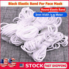 10M;11Yard LASOA Elastic Cord Rope White Band 1//5 Inch Wide Flat Ear Tie Earloop Strap Handmade String for Crafts DIY Sewing