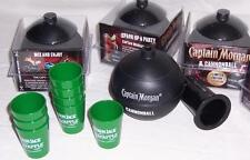 NEW Lot of 4 Captain Morgan Limited Edition Plastic CANNONBALL CUPS & 2 BONUSES!