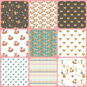 Fox Woodland, Autumn Themed Canvas Sheets, for bow making, approx A4, crafts