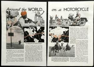 Around the World on a Motorcycle 1936 pictorial Robert Edison Fulton Jr.