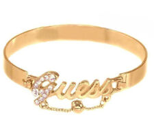 Guess Bracelet Bangle Gold  Script Logo Hinge Logo Gift Jewelry