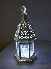 WHITE FLORAL FILIGREE  LANTERN WEDDING EVENT CENTERPIECE with LED lights