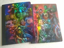 Marvel Avengers / 2 Composition Metalic Notebook Set/ 100 Wide Ruled Sheets/ NEW