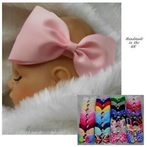 Large Bow Baby Headband - 5 or 6 inch - Party wedding Christening Extra Big Bow