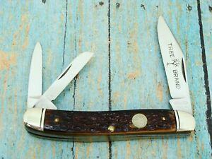 VINTAGE BOKER TREE BRAND USA 8313 FOLDING DOGLEG WHITTLER POCKET KNIFE KNIVES