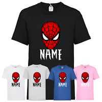 Personalised Children's Spider-Man T-Shirt Funny Kids Gaming Gamer Avenger Top