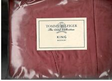 Tommy Hilfiger Crest Damask Collection Red King Bed Skirt Crest  New