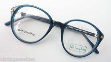 Oldschoolbrille Benetton Pantofassung petrolfarbig Kunststoff 48-20 size M