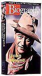 VHS Biography - John Wayne American Legend: Buttons Dickinson Heston Pilar Wayne