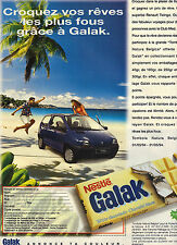 PUBLICITE ADVERTISING  1994    GALAK de NESTLE  chocolat blanc