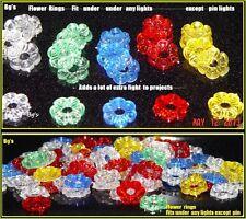144 FLOWER PETAL nest Ring Ceramic Christmas tree rings bulb plastic twist flame