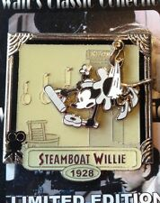 Disney Walt's Classic Collection Black Steamboat Willie Minnie Mouse Pin NEW