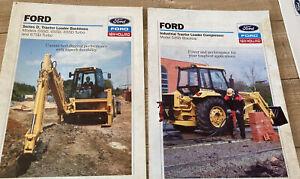 Ford / New Holland Digger / Tractor / Backhoe Leaflets X 2