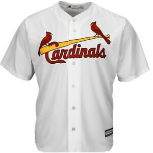 NEW St Louis Cardinals Home White Authentic Replica Jersey Size S FREE SHIPPING