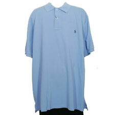 POLO RALPH LAUREN Blue Weathered Cotton Mesh Classic Fit Polo Shirt 3XB