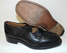 SCOTTISH BLACK LEATHER PIPER BROGUES - Size: 5 Medium  , British army issue