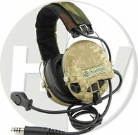 SOFTAIR TOY TOMTAC SORDIN HEADSET MIC BOOM RADIO MSA DESIGN WOODLAND AOR1 DD