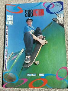 SKATE ACTION (SK8 Action) Vintage Skateboard Magazine June 1990