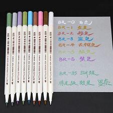 10pcs Metallic Pencil Set Marker Album Dauber Sketch Water Color Marker Pen@