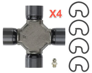 4 Universal Joints Moog Greasable for Chevy GMC Aluminum Driveshaft