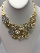 $48 Charter Club Gold Tone Opal  Flower Necklace #MH 52