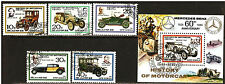 Korea 1986 History of old cars mersedes , fiat,bugatti,renault s/s +5 stamp USED
