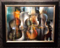 "LEONARDO NIERMAN Original Acrylic on Masonite Painting ""SONATA"", COA"