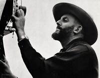 1950 Vintage ANSEL ADAMS Photographer Camera Portrait Photo Art By NANCY NEWHALL