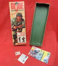 1964 VINTAGE GI JOE  :  3TM 1st ISSUE ACTION SOLDIER EMPTY ORIGINAL BOX  8/21/64