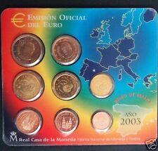 manueduc  ESPAÑA 2003  BLISTER OFICIAL  FNMT EUROSET EUROS  NUEVA