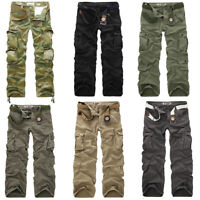ARMY CARGO CAMO COMBAT MILITARY MENS TROUSERS CAMOUFLAGE PANTS CASUAL UK